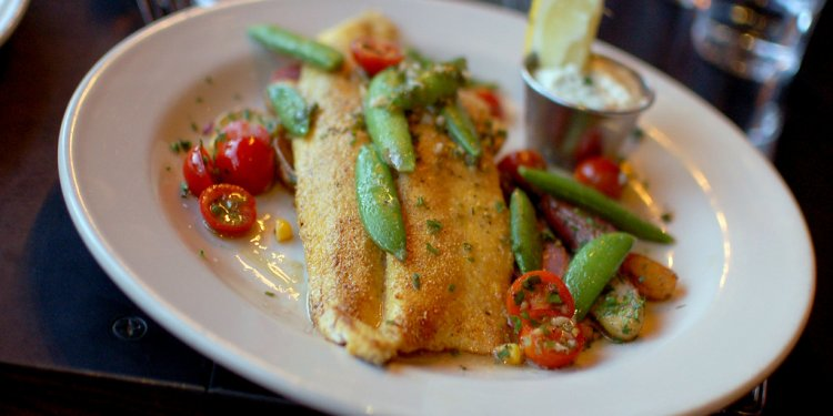 Cornmeal crusted rainbow trout
