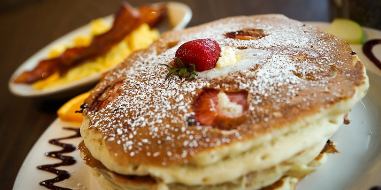 Strawberry Banana Pancakes - The Mission, San Diego, CA