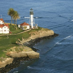 Point Loma's lighthouse stands sentry over the Pacific.